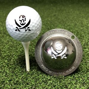 Tin Cup Swashbuckler Pirate Fire in the Hole Golf Ball Design Marker Stencil
