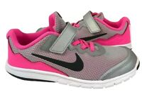 Nike flex Experience RN 4 youth girls running athletic shoes gray pink