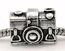 Camera Retro Photographer Gift Photography Bead fits European Charm Bracelets