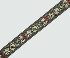 "02"" (5.08 Cm) wide By The Yard Jacquard Trim Woven Border Sew Ribbon T669"