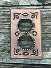 MEXICAN TIN Copper DUPLEX OUTLET Plate Cover In COPPER