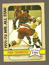 1972 - 73 Topps Hockey Set YVAN COURNOYER All Star Card - CANADIENS