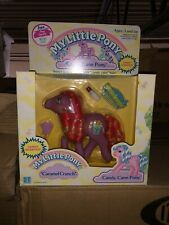 ❤️ My Little Pony G1 RARE Candy Cane Pony Caramel Crunch NOS MIB case fresh