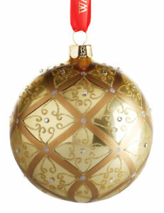 WATERFORD HOLIDAY HEIRLOOMS #153830 LARGE CELTIC SCROLL BALL Christmas Ornament