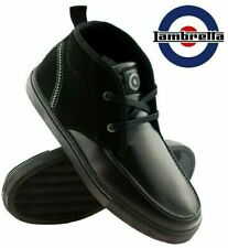 Mens Lambretta Leather Flat Lace Up Hi Tops Ankle Boots Casual Sneakers Trainers