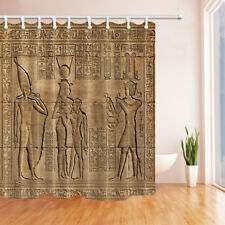 Ancient Egyptian Frescoes Bathroom Shower Curtain Fabric w/12 Hooks 71*71inches