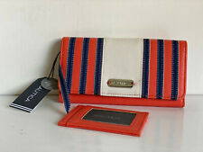 NEW! NAUTICA STRAIGHT AWAY PULL OUT ID CLUTCH WALLET W/ RFID BLOCKING $49 SALE