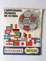 Campeonato Mundial De Futbol Album 1970 Mexico World Cup Milo Very Rare