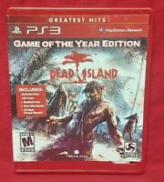 Dead Island Game of Year  - Sony PlayStation 3 PS3 Game COMPLETE w/ Manual Works