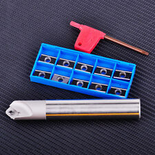 45 Degree Centering Chamfering End Cutter Holder Milling Insert Blade Tool Kits