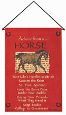 Wall Art - Advice From A Horse Tapestry Wall Hanging - Equestrian Decor