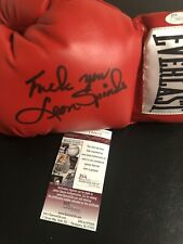 Autographed Leon Spinks Boxing Glove Insc Fu@$ You JSA Certified Signed