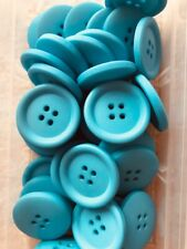 Large blue buttons 25mm wide 4 hole round