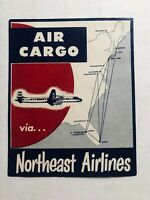 Vintage Northeast Airlines Air Cargo Sticker - Merged with Delta Airline in 1971