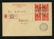 Switzerland  B83   block  on registered  cover   1937            MS1201
