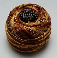 DMC Pearl Cotton Ball (10 gram) Size 8 Color #111 variegated brown to yellow F