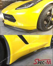 Carbon Fiber Z51 Side Skirt W/ Front Lower Lip + Winglets For 14-Up Corvette C7
