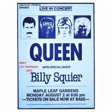 1982 Queen, Toronto Concert at Maple Leaf Gardens Vintage Print Advert