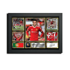 More details for new cristiano ronaldo mc15732 signed football print autographed gift a4 a3 a2 a1