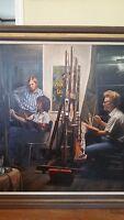 Large, Early Douglas Hofmann oil on canvas
