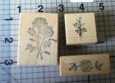 PSX PERSONAL Stamp Exchange legno montato timbro 3 differenti Francobolli Rose