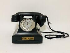 The Reliance Telephone Original Antique Vintage Black Bakelite Rotary Phone