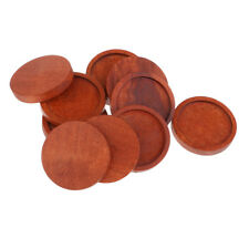 10pcs Round Wooden Cameo Base Setting Tray Fit Glass Cabochon Cameo DIY 25mm