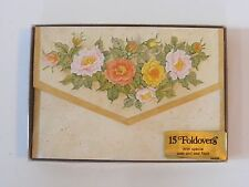vintage Drawing Board Greeting Cards FOLDOVERS 15 floral rose pattern stationery