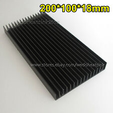 200x100x18mm Black Anodized Aluminum Heatsink Cooler For Cooler LED