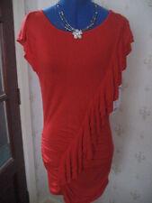 Stunning Joseph Ribkoff Flamingo Red  L/S Tunic Top /SHort dress Sz 10 BNWT £165