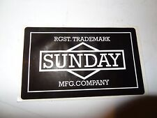 SUNDAY BMX Decal