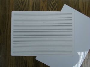Pupil Whiteboards Handwriting Gridded PVC A5 A4 A3 Dry Wipe Literacy Numeracy