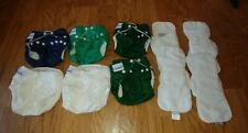 â­� Cloth Diapers â­� 6 cloth diaper pocket covers & 6 Inserts â­� Fuzzi Bunz â­� Small