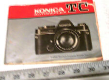 KONICA TC Autoreflex Instruction Book Operating Guide Camera User Manual Booklet
