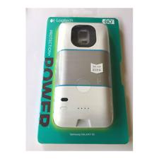 Logitech Protection Power External Battery Case (Samsung Galaxy S5, White/Blue)