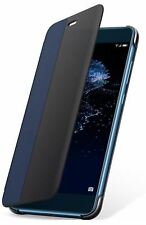 NEW GENUINE HUAWEI P10 LITE SMART VIEW FLIP CASE COVER WALLET SLEEP WAKE - BLUE