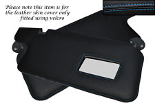 BLUE STITCH FITS HONDA PRELUDE MK3 86-91 2X SUN VISORS LEATHER COVERS ONLY