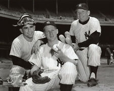 New York Yankees YOGI BERRA MICKEY MANTLE & WHITEY FORD Glossy 8x10 Photo Poster