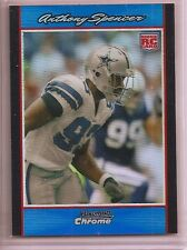 2007 Bowman Chrome ANTHONY SPENCER (Rookie) Blue Refractor /150