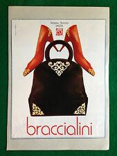 PCA140 Pubblicità Advertising Werbung Clipping 1992 BRACCIALINI SCARPE BORSE
