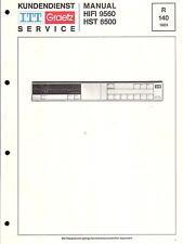 ITT/Graetz Original Service Manual für HiFi 9560 / HST 6500