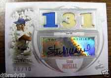 Stan Musial 2007 Topps Sterling  6/10  Autographed Triple Game Used Card 1/1