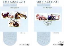BRD 2004: Katzen! Jugend-Ersttagsblätter Nr. 2402-2406 mit Bonner Stempeln! 1510