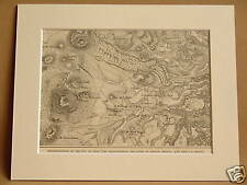 PUY DE DOME NEIGHBOURHOOD FRANCE ANTIQUE MOUNTED ENGRAVING FROM 1890 PUBLICATION