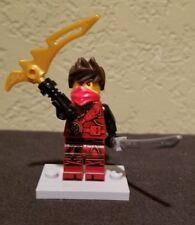 Lego Ninjago Kai Minifigure Hands of Time Brown Hair Red Bandana with Weapon