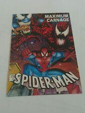 Spiderman maximum carnage checklist promo card 1993