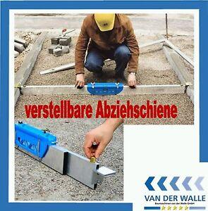 Pflaster Abziehschiene Planumschiene Abziehlehre für Schüttgüter 1,50 - 2,75 m