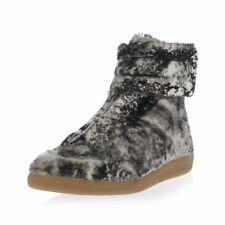 NEW MAISON MARTIN MARGIELA SIZE 41 REAL FUR  FUTURE HIGH TOP SNEAKERS KANYE