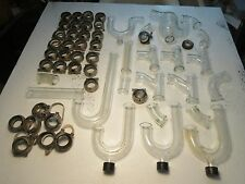 PYREX & KIMAX GLASS LABORATORY DRAIN PIPE SYSTEM P TRAPS Y FITTINGS COUPLINGS
