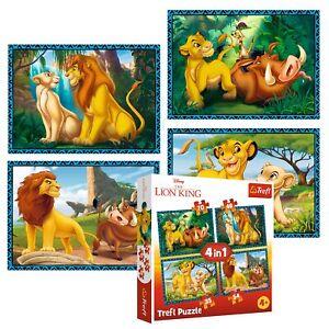Trefl 4 In 1 35 + 48 + 54 + 70 Piece Kids Disney The Lion King Jigsaw Puzzle NEW